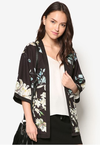 花卉和zalora 台灣風開襟外套, 服飾, 服飾