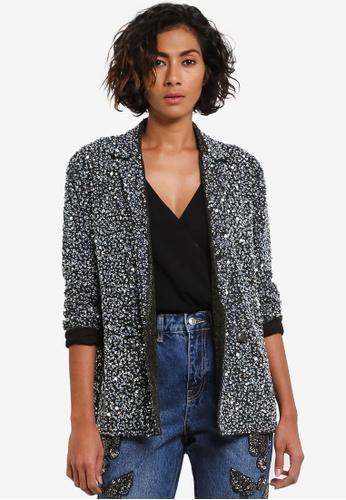 Buy TOPSHOP Heavy Sequin Blazer Online   ZALORA Malaysia