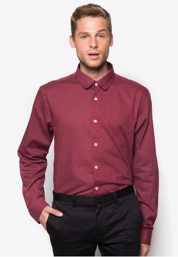 點點印花長袖襯衫, esprit香港門市服飾, 襯衫