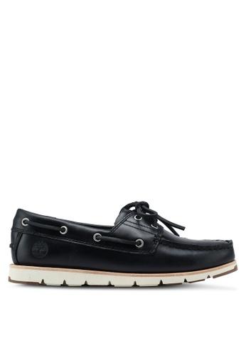 Timberland navy Camden Falls Full-Grain Boat Shoes 602BCSH5539848GS_1