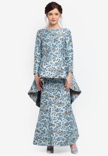 Zalia blue Jacquard Mermaid Peplum Dress 71185AA8760339GS_1