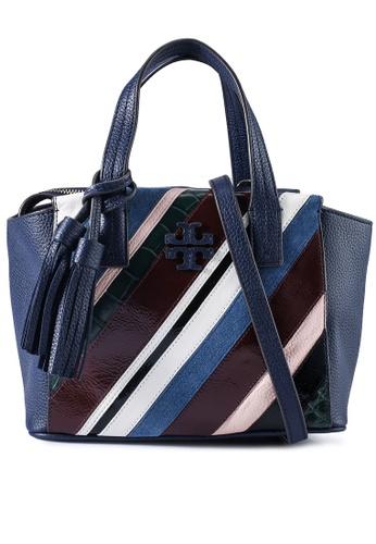 TORY BURCH multi Thea Pieced Leather Mini Slouchy Satchel Bag (NT) ED757AC8BAFC2DGS_1