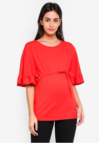 Mama.licious red Jersey Maternity Top 3C5F7AA195AAADGS_1