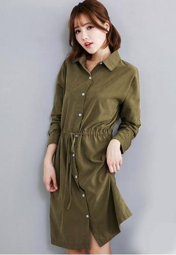 Sesura green Suede Sensation Dress Jacket 91071AAFB25C94GS_1