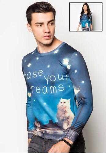 『追尋夢想』圖文長袖衫, 服飾, zalora是哪裡的牌子外套