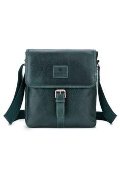 93362e16a ENZODESIGN green ENZODESIGN Vintage Buffalo Leather A5 Size Mini Shoulder  Bag ( I-Pad Size