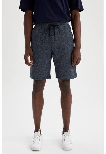 DeFacto navy Regular Fit Sweatshirt Bermuda Shorts AF810AAC00DC86GS_1