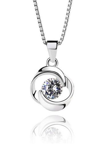 LYCKA silver LPP03629 S925 Silver Clover Necklace DA38BACF8BC4E4GS_1