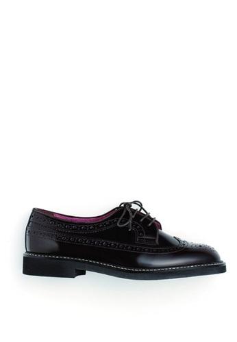 HARUTA brown Quilt Lace-Up Shoes-379 C6B60SH40C5EB1GS_1