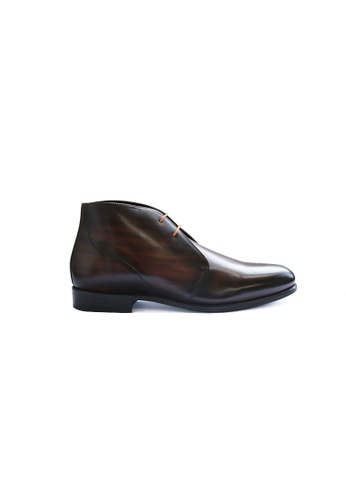 Jonathan Abel brown Jonathan Abel Arlington Boots in Cognac Patina 6ADB9SH55853F1GS_1