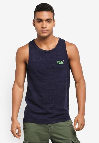 Superdry navy Orange Label Vintage Emb Vest 96621AA44A7EAAGS_1