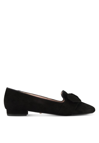 Dune London black Softy Bow Flats C05D3SH3C9CCAEGS_1