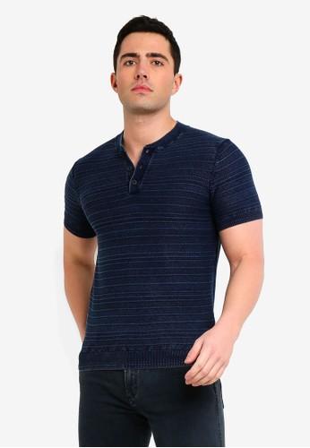 MANGO Man blue Structured Cotton T-Shirt 42CC5AA01CBAF8GS_1
