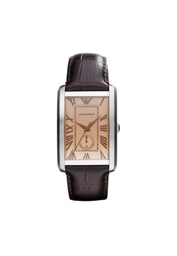 Eesprit 床上用品mporio Armani MARCO方型錶款系列腕錶 AR1605, 錶類, 時尚型
