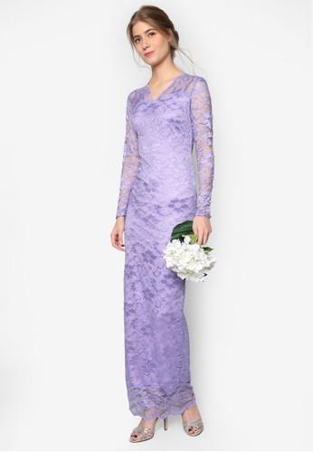 經典蕾esprit暢貨中心絲長袖洋裝, 服飾, 洋裝