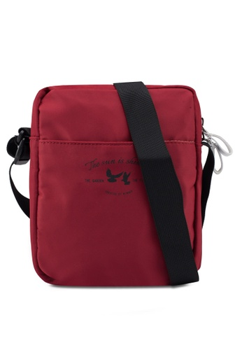 Bagstationz red Lightweight Travel Sling Bag DBE6FAC1033FA8GS_1