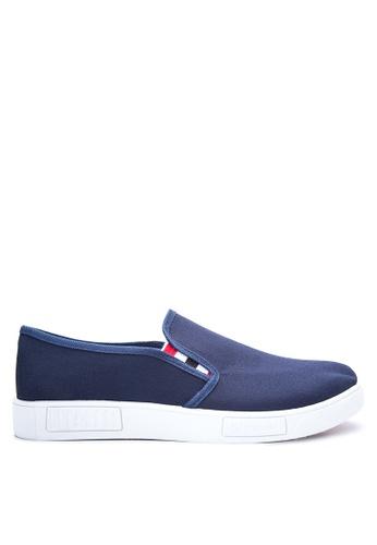 Preview blue Men's Slip on Sneakers PR211SH77DOKPH_1