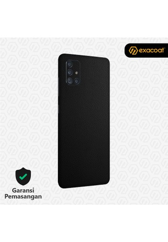 Exacoat Galaxy A51 / A71 3M Skins Leather Series - Leather Black 3CBFFES1C3AD2EGS_1