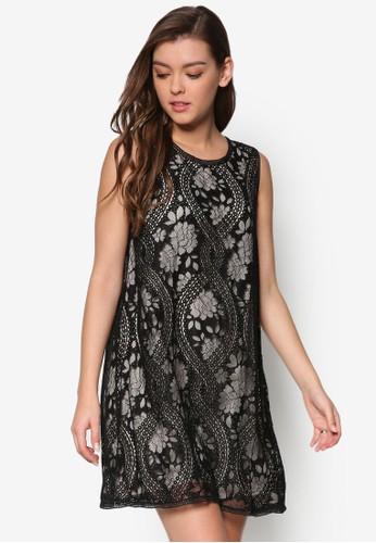 蕾zalora 包包評價絲寬擺無袖洋裝, 服飾, 洋裝