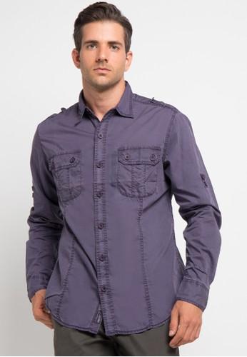 Bombboogie purple Ex Dyed Shirt BO419AA0V713ID_1
