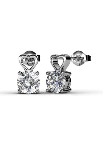 Her Jewellery silver Swarovski® Crystals - Sweet Love Earrings (18K White Gold Plated) Her Jewellery HE581AC0RAFJMY_1