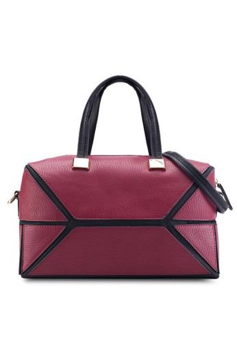 撞色滾esprit香港門市邊手提包, 包, 手提包