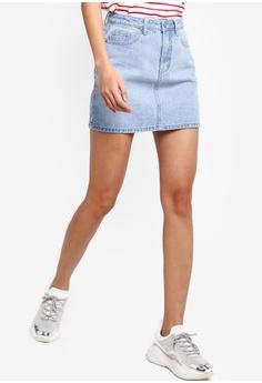 33a6042cbc Something Borrowed blue Denim Mini Skirt 76FAFAA24205EDGS_1
