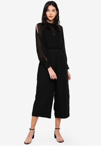 95d478461714 Buy WAREHOUSE Chiffon Culotte Jumpsuit Online on ZALORA Singapore