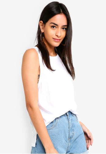 Supre white Loose Tank Top 6733CAA2D163D8GS_1
