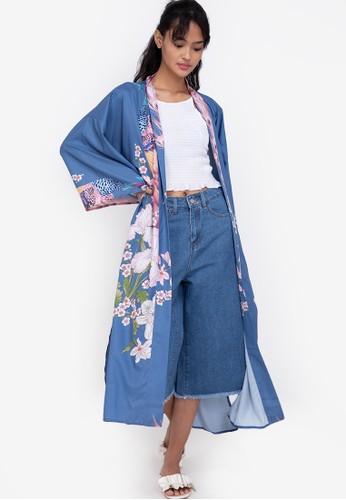ZALORA BASICS multi Longline Kimono Jacket 2291CAA79BA942GS_1