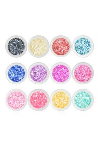 Pretty2u multi Nail Art Shell Powder Set PR716BE0RBFNMY_1
