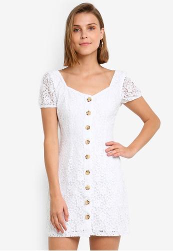 633486a5afc0 Buy Abercrombie & Fitch Button Through Lace Dress | ZALORA HK