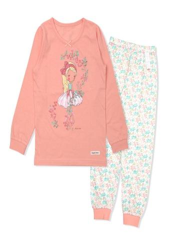 Organic mom orange Organic Cotton Wendy Floral Lightweight Long Sleeves Pjs 55E44KA5F80805GS_1