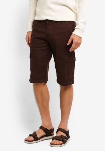 Fidelio brown Casual Comfort Cargo Shorts FI826AA0RLXFMY_1