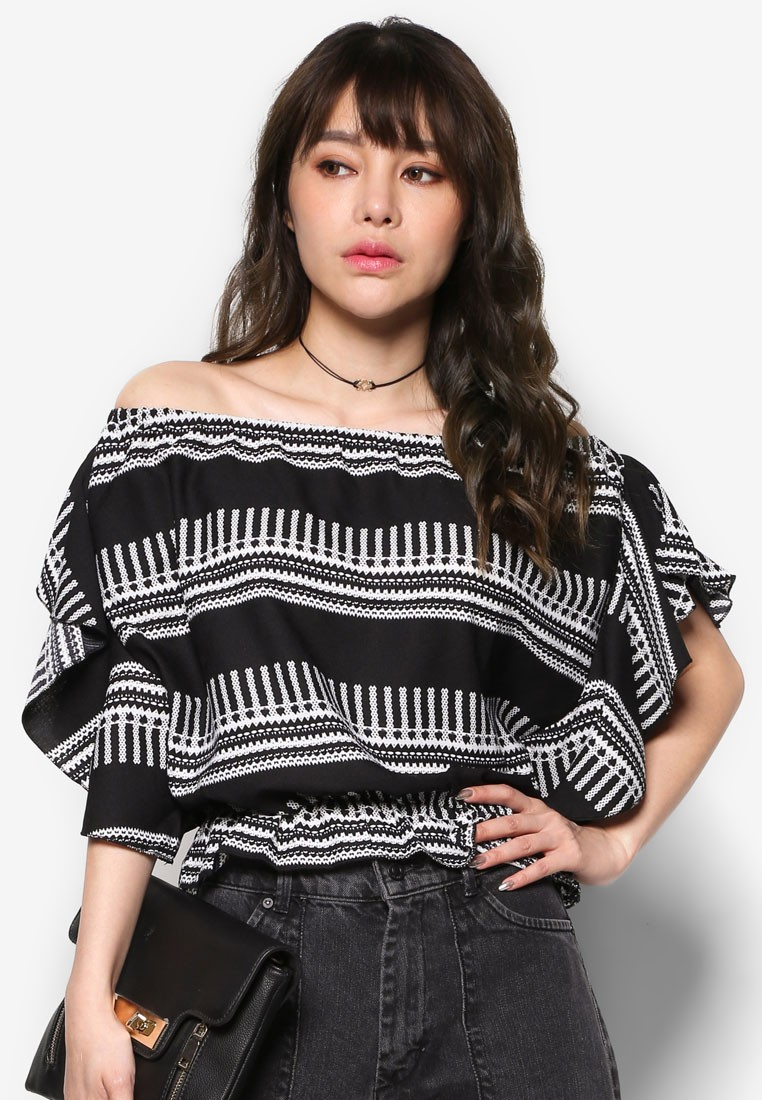 Off Shoulder Top With Ruffles