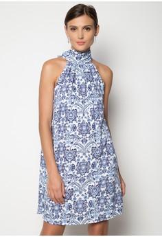 Ether Halter Bowback Dress