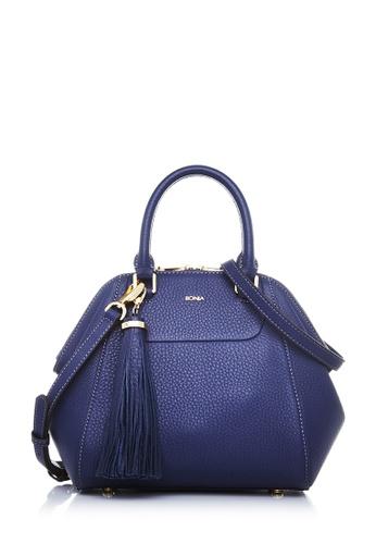 BONIA blue Blue Guilietta Satchel S BO777AC21GDYMY_1