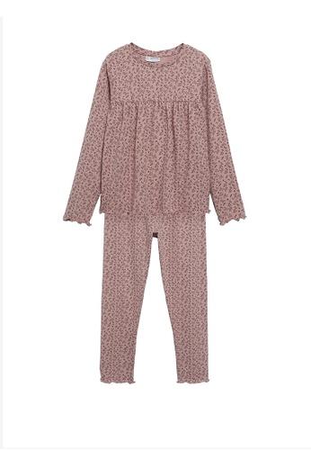 MANGO KIDS pink Printed Long Pyjamas 4FA88KA6227B06GS_1