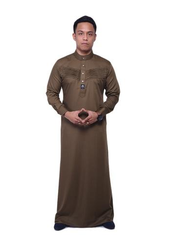 Maribeli Butik green MB Man Jubah Qhalees 07 Olive Green MA905AA32LULMY_1