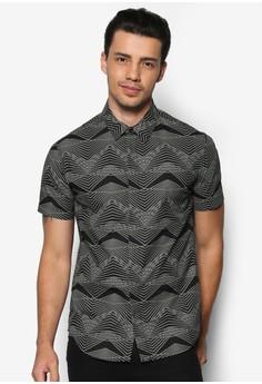 Dimensional Lines Short Sleeve Shirt