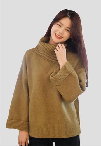 開zalora 評價叉細節高領針織上衣, 服飾, 毛衣& 針織外套