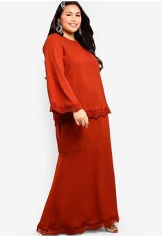 d73bf5619d 10% OFF Lubna Lace Trim Top With Mermaid Skirt Set S$ 89.90 NOW S$ 80.90  Sizes XXL XXXL XXXXL XXXXXL