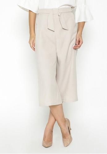 The B Club beige Kezia Culottes Pants TH262AA0VPKIID_1