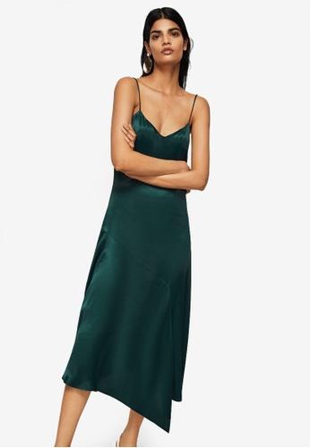 Mango green Dress D56EDAA53B776EGS_1