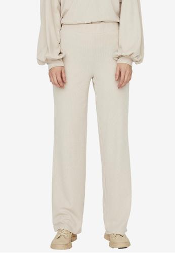 Vero Moda grey Alfie Straight Long Pants F1454AA6787145GS_1
