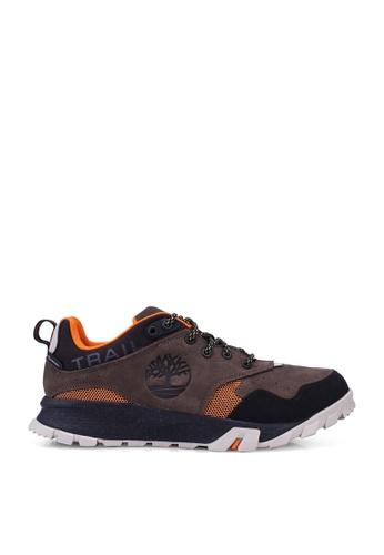 Timberland brown and multi Garrison Trail Waterproof Low Hikers 5F352SH655101CGS_1