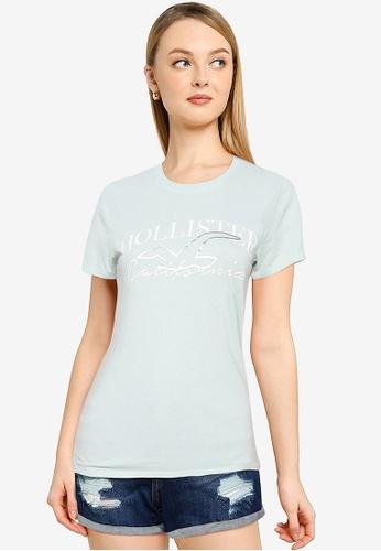 Hollister blue Foil T-Shirt 3A9BBAA2394956GS_1