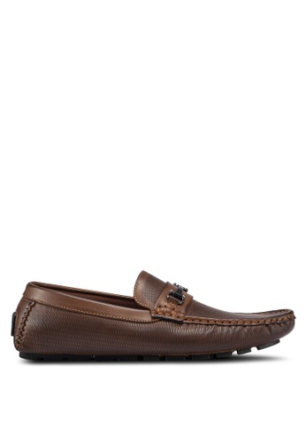 High Cultured brown Metal Hardware Loafers 325 A0A49SH22D5FF1GS_1