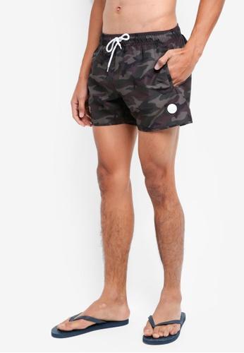 Topman multi Camouflage Print Swim Shorts F9869USDB39FDAGS_1
