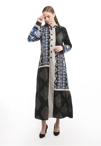 Batik Jagad Tresno black Hansa Itina Dress Batik Wanita Modern 5E261AACDE1D1AGS_1